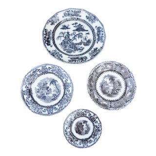 Set of 18th/19th Century English Ironstone Mulberry Plates For Sale