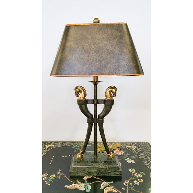 Maitland-Smith Brass Horse Table Lamp - Image 2 of 6