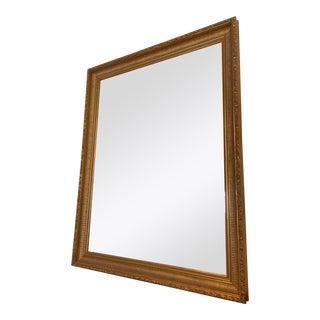 Gilded Mirror Scoop Fluted Frame With Olive Leaf Border For Sale
