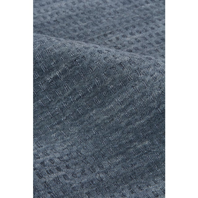 Exquisite Rugs Worcester Handwoven Wool Denim Blue - 6'x9' For Sale - Image 4 of 8
