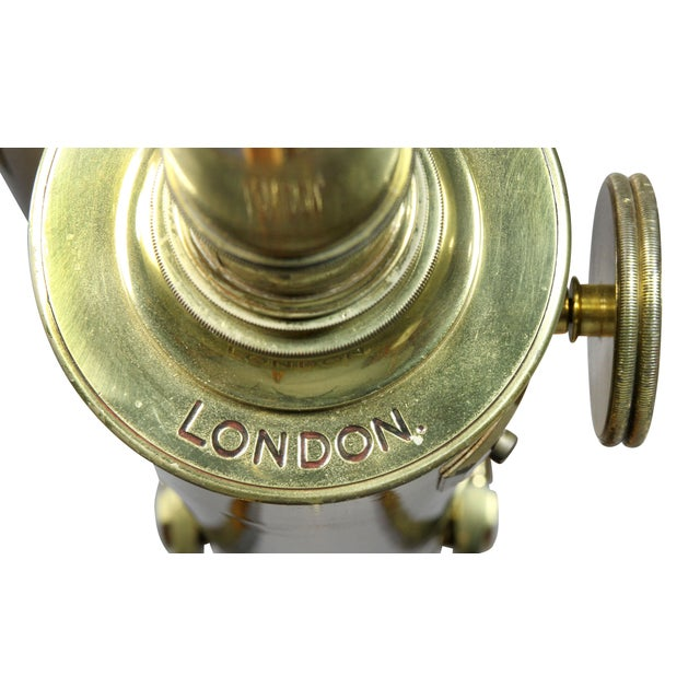 Edwardian Brass Telescope on Stand by J.H.Steward For Sale - Image 10 of 11