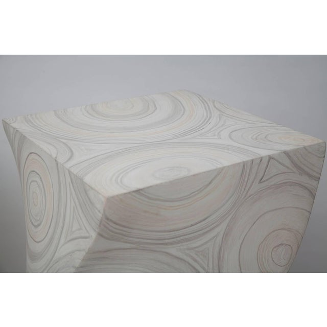 Plastic 1970s Helix Twisted Fau Painted Agate Pedestals - a Pair For Sale - Image 7 of 11