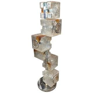 Mazzega Sculptural Six-Light Floor Lamp, Italy For Sale