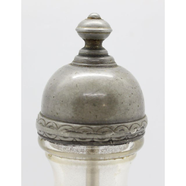 Italian Pewter & Glass Salt Grinder For Sale - Image 4 of 6