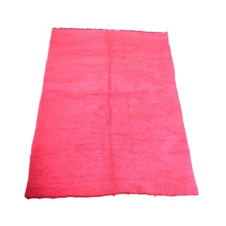 "Large Vintage Hot Pink Moroccan Rug - 5'5"" x 8' For Sale"