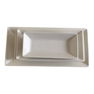 Ariane Panorama White Fine Porcelain Rectangular Side Dishes - Set of 4