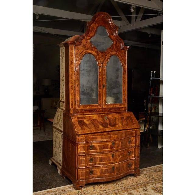 18th Century Italian Baroque Walnut and Fruitwood Secretary For Sale - Image 9 of 9