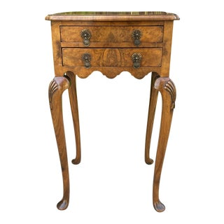 Antique English Burl Walnut Occasional Table For Sale