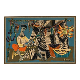 Mid-Century Tapestry by Debievre For Sale