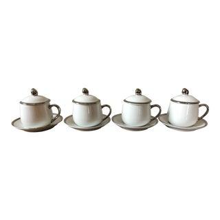 Vintage Georg Jensen Pots de Creme - Set of 4 For Sale