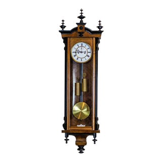 19th-Century Regulator Wall Clock For Sale