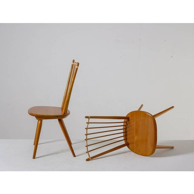 Americana Albert Haberer Pair of Arts and Crafts Chairs, Germany, circa 1950 For Sale - Image 3 of 9