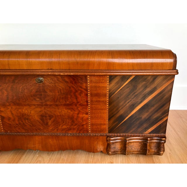 Early 20th Century Art Deco Waterfall Storage Trunk For Sale - Image 5 of 13