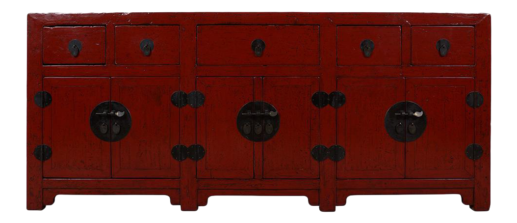 red lacquered furniture. Huge Chinese Antique Red Lacquered Sideboard / Buffet Table Furniture