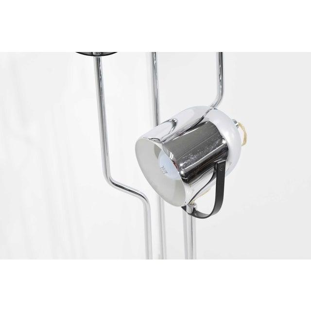 Goffredo Reggiani Reggiani 4 Head Chrome and Black Floor Lamp For Sale - Image 4 of 11