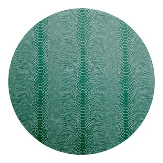 Snakeskin Placemat in Green For Sale