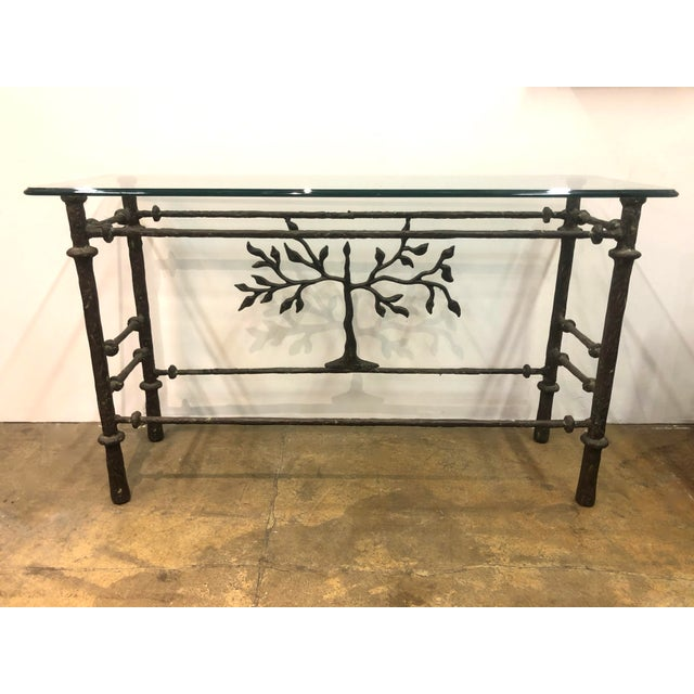 Metal Giacometti Style Studio Made Console Table For Sale - Image 7 of 7