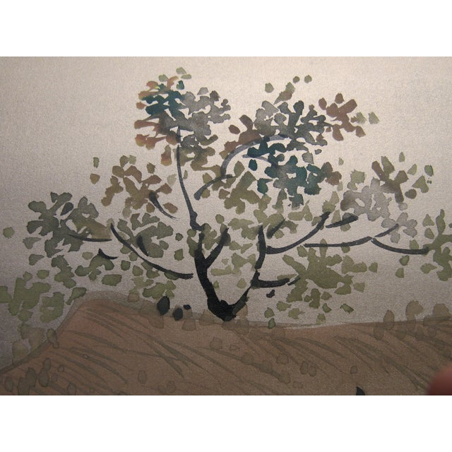 Paper Painted Hunting Scene Mural Wallcovering For Sale - Image 7 of 12