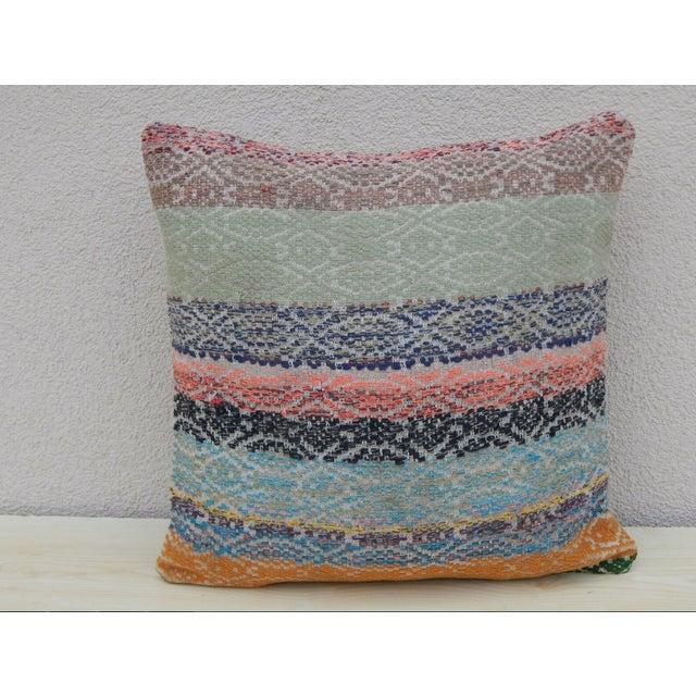 1990s Handmade Turkish Kilim Pillow For Sale - Image 5 of 5