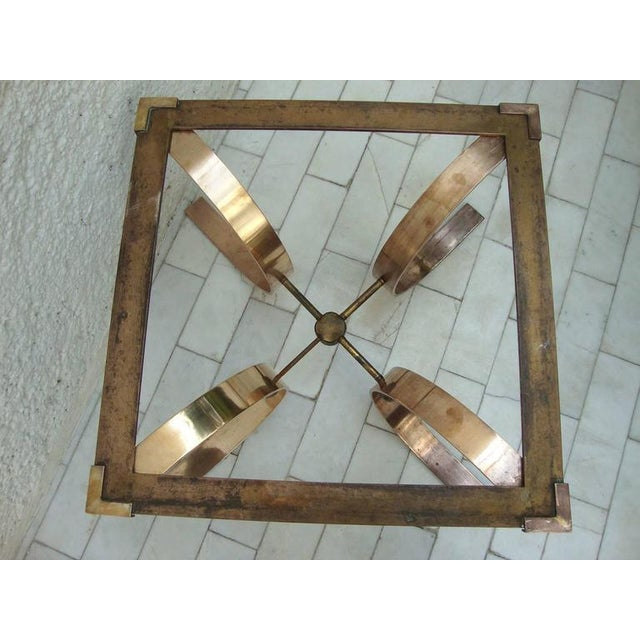 1950s Sculptural Side Table in Brass For Sale - Image 5 of 8