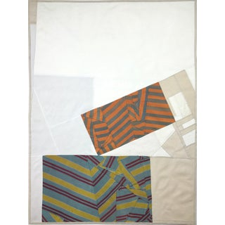 Falling Blocks, 2017 Pieced vintage silk Debra Smith For Sale