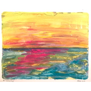 'Lovely Day' Handmade Monotype Painting