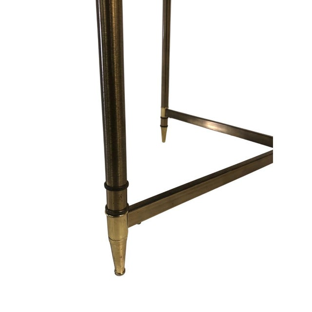Mid-Century Modern 1960s Mid Century Brass Side Table Light Smokey Glass Top For Sale - Image 3 of 5
