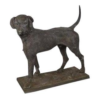 Antique 19th Century Zinc Morley's Dog Statue by J.W. Fiske (B) For Sale