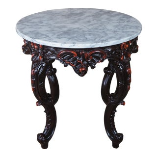 Baroque Marble Top Parlor Table For Sale