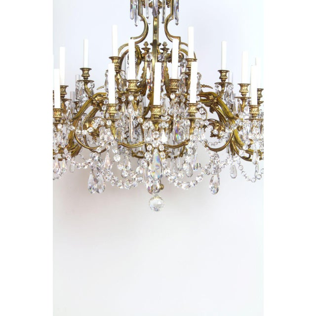 Late 19th Century French Gilt Bronze and Crystal 36 Light Chandelier For Sale - Image 5 of 9