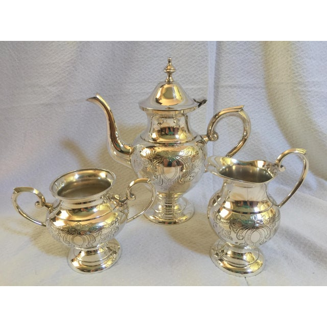 English Silverplate Coffee Service - Set of 3 - Image 2 of 6