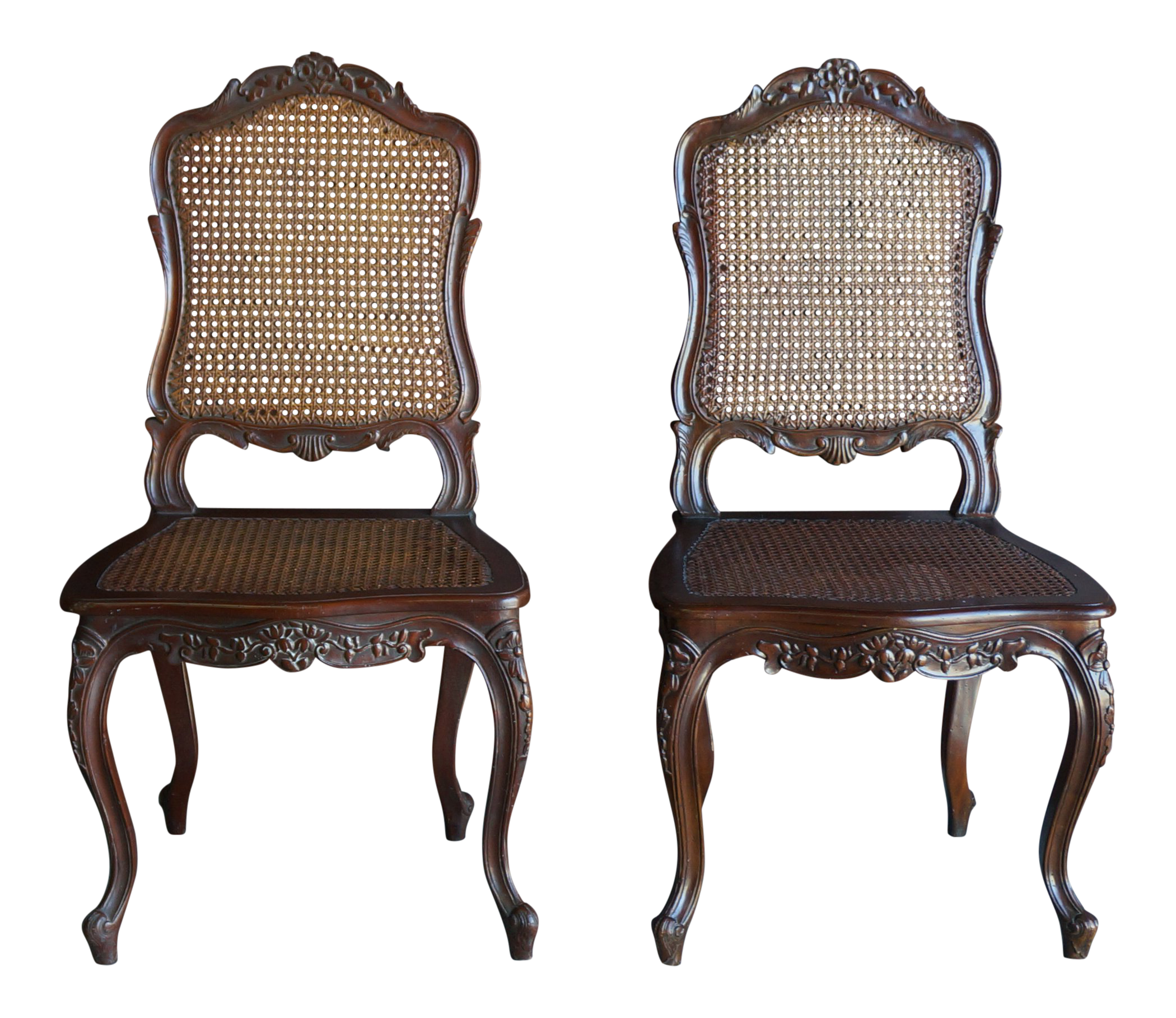French Provincial Style Cane Dining Chairs - a Pair  sc 1 st  Chairish & Vintage u0026 Used French Provincial Dining Chairs | Chairish