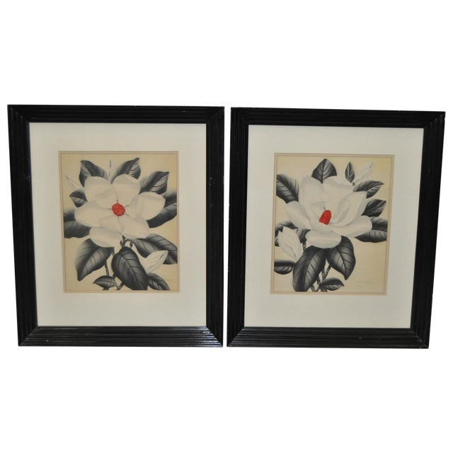 Pair of 1950's Paintings by Shirrell Graves For Sale