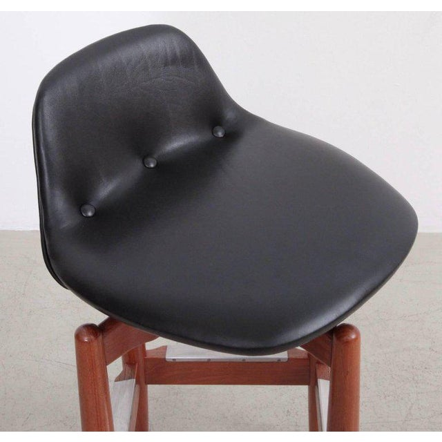 Pair of Arne Vodder Teak Bar Stools for Sibast Furniture For Sale - Image 6 of 9