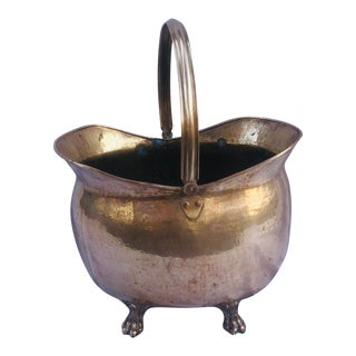 Vintage Brass Planter For Sale