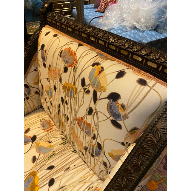 Brown 19th Century Mother of Pearl Inlay Chairs - a Pair For Sale - Image 8 of 12