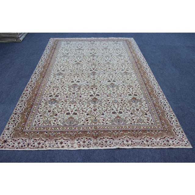 "Textile Oriental Turkish Rug - 6'3"" x 9'8"" For Sale - Image 7 of 8"