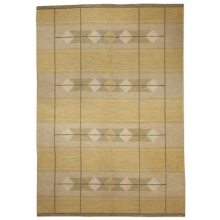Vintage Swedish Flat-Weave Rug For Sale