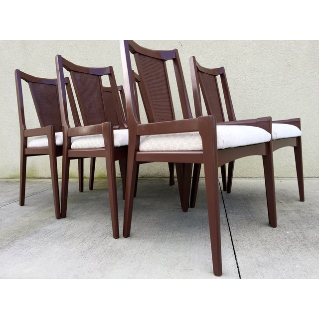 High Back Lacquered Dining Chairs - Set of 6 - Image 5 of 11