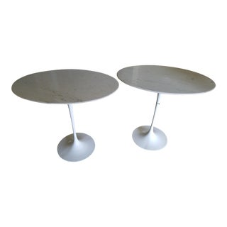 Vintage Tulip Pedestal Side Tables - A Pair
