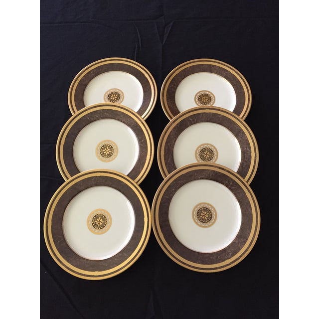 Mahogany Florentine Luncheon or Dessert China Set - 18 Pieces For Sale In West Palm - Image 6 of 13
