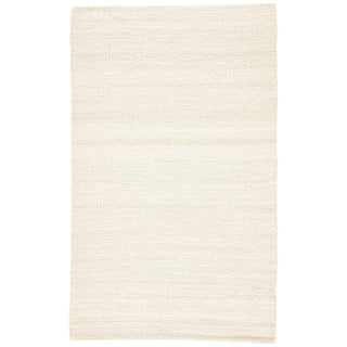 Jaipur Living Hutton Natural Solid White Area Rug - 5' X 8' For Sale