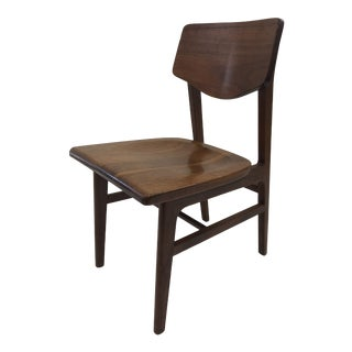 Vintage Mid Century Modern Wood Desk Chair by Gunlocke For Sale