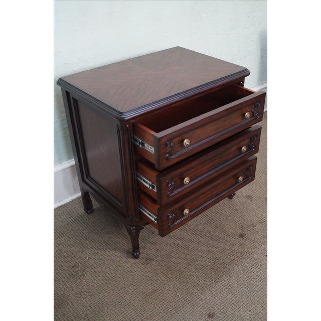 French Louis XV Style Mahogany Nightstands - A Pair - Image 8 of 8