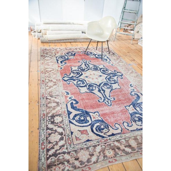 "Distressed Oushak Carpet - 6' X 9'4"" - Image 7 of 10"