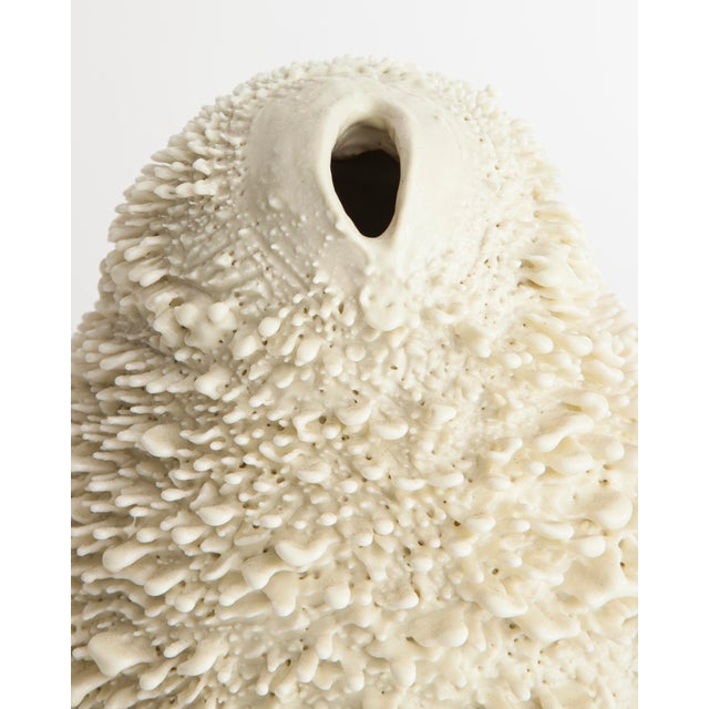 Unique, hand-thrown Vagina Owl Accretion vase - Image 2 of 4