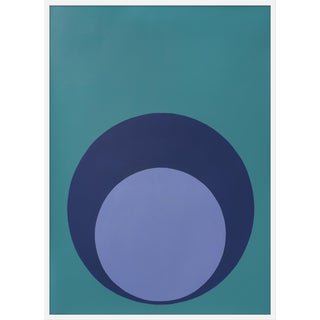 "Large ""Double Dot in Blues"" Print by Stephanie Henderson, 36"" X 50"" For Sale"