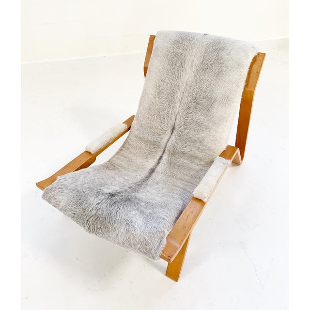 Gray Harvey Probber Suspension Chair Restored in Brazilian Cowhide For Sale - Image 8 of 12