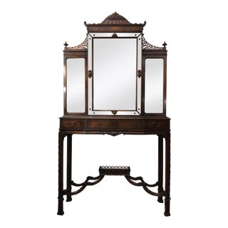 Vintage Weiman Pagoda Curio Cabinet For Sale