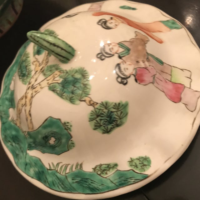 Chinese Mid 19th Century Chinese Famillie Ginger Jar For Sale - Image 3 of 8